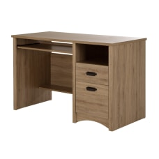 South Shore Gascony Desk Rustic Oak