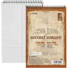 TOPS Second Nature Spiral Steno Notebook