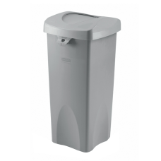 Rubbermaid Plastic Trash Receptacle Untouchable Square