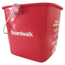 Boardwalk Sanitizing Bucket 6 Qt Red