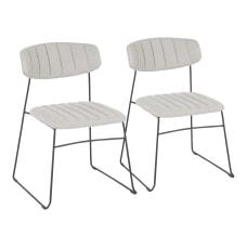 LumiSource Thomas Chairs Light GrayBlack Set