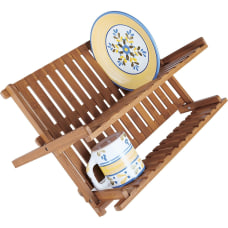 Lipper Bamboo Folding Dishrack 98 Height