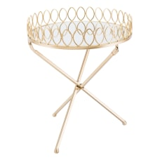 Zuo Modern Tray Table Round MirrorGold