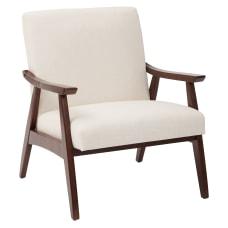Ave Six Davis Chair LinenMedium Espresso