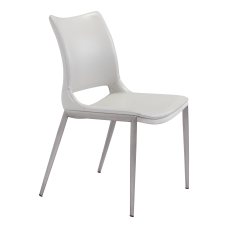 Zuo Modern Ace Dining Chairs WhiteBrushed