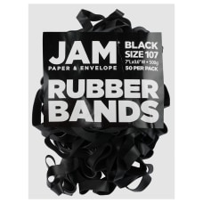 JAM Paper Rubber Bands Black Size