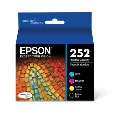 Epson 252 DuraBrite BlackCyanMagentaYellow Ink Cartridges