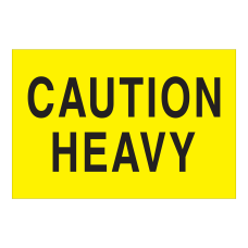 Tape Logic Safety Labels Caution Heavy
