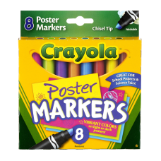Crayola Poster Board Markers Pack Of