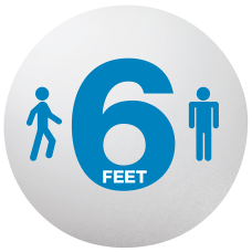 Deflecto Social Distancing Floor Decals 20