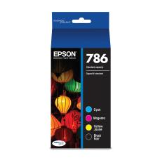 Epson 786 DuraBrite BlackCyanMagentaYellow Ink Cartridges