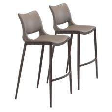 Zuo Modern Ace Bar Chairs GrayWalnut