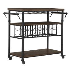 Linon Anson 2 Shelf Wine Cart