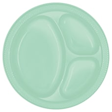 Amscan Divided Round Plates 10 14