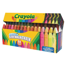 Crayola Sidewalk Chalk 64 Count Washable