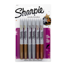 Sharpie Metallic Markers BronzeGoldSilver Pack Of