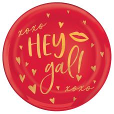 Amscan Hey Gal Round Plastic Valentines