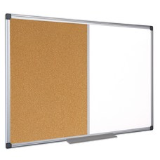 MasterVision CorkNon Magnetic Melamine Dry Erase