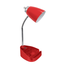 LimeLights Gooseneck Organizer Desk Lamp With