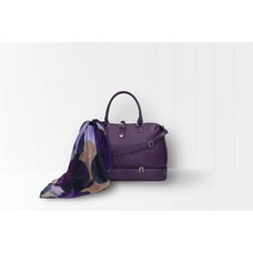 GNBI Polyurethane Weekender Duffel Bag Purple