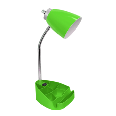 LimeLights Gooseneck Organizer Desk Lamp With