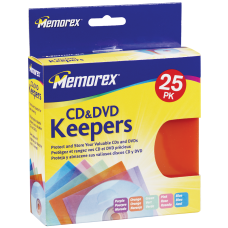 Memorex CD DVD Keepers Assorted Colors