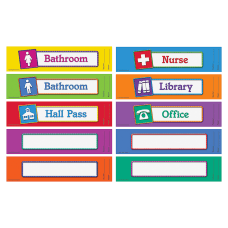Learning Resources Hall Passes Board 10
