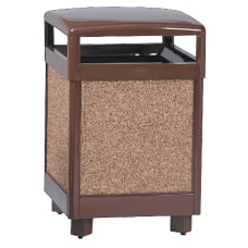 United Receptacle 30percent Recycled Hinged Top