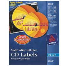 Avery Full Face Permanent Inkjet CD