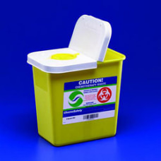 ChemoSafety Container With Hinged Lid 2