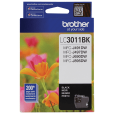 Brother Genuine LC3011BKS Black Ink Cartridge