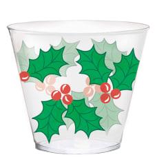 Amscan Christmas Plastic Tumblers 9 Oz