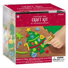 Amscan Christmas Tree Craft Kits 24