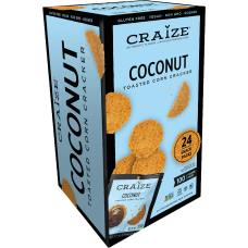 Craize Coconut Toasted Corn Crackers 077