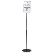Durable Floor Model Sign Holder ClearGray