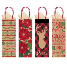 Amscan Christmas Bottle Bags 14 H