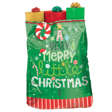 Amscan Christmas Very Merry Plastic Gift