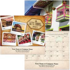 Lets Travel Wall Calendar Stapled