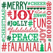 Amscan Christmas Hashtag Holiday 2 Ply