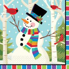 Amscan Christmas Smiling Snowman 2 Ply