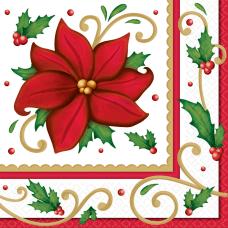 Amscan Christmas Winter Botanical 2 Ply