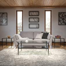 Flash Furniture GlassMetal 3 Piece Coffee