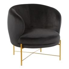 LumiSource Chloe Accent Chair GoldBlack