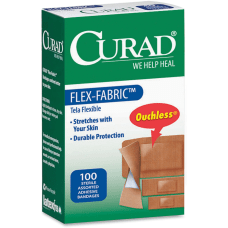 CURAD Flex Fabric Bandages Assorted Sizes