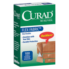 CURAD Flex Fabric Bandages Assorted Sizes
