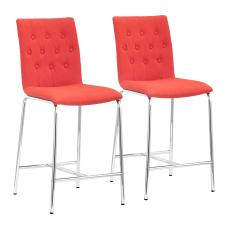 Zuo Modern Uppsala Counter Chairs TangerineChrome