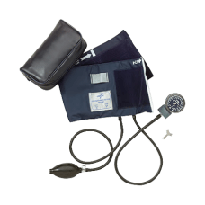 Medline Handheld Aneroid Sphygmomanometer Adult Blue