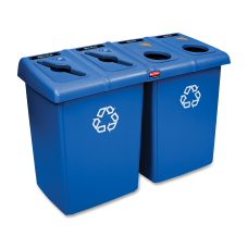 Rubbermaid 92 Gallon Glutton Recycling Station