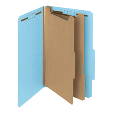Smead Pressboard Classification Folders 2 Dividers