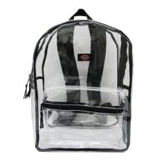 Dickies Clear PVC Laptop Backpack Black